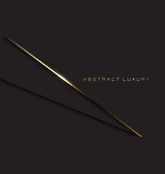 Abstract luxury gold line shadow dark grey vector
