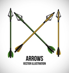 Arrow design vector