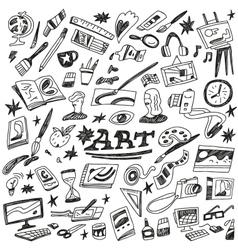 Art tools - doodles vector
