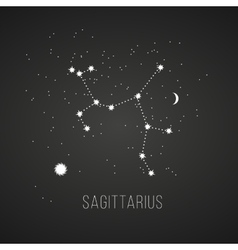 Astrology sign Sagittarius on chalkboard vector
