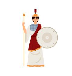 Athena goddess wisdom warfare and arts vector