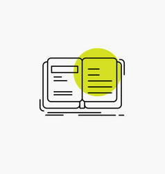 Author book open story storytelling line icon vector