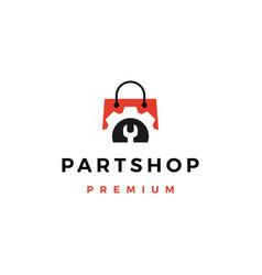 Automotive spare part shop logo icon vector