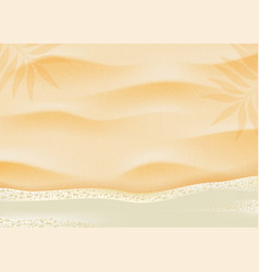 beach sand on ocean coast sea azure wave with vector image
