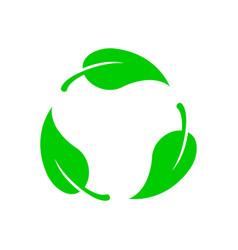 Biodegradable icon vector