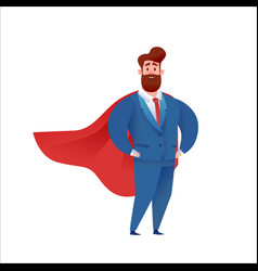 business man super hero in suit and cape vector image