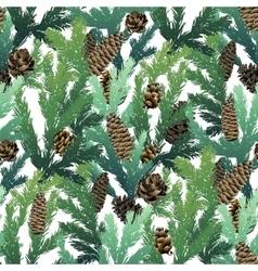 Christmas coniferous seamless pattern vector