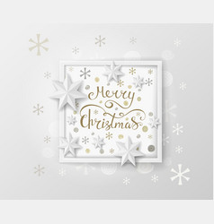 Christmas greeting card white paper design vector