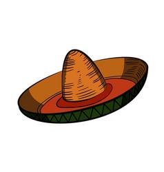 Color sketch sombrero vector