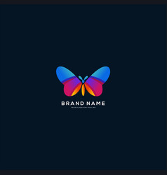 Colorful butterfly logo design vector