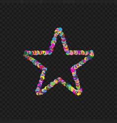 Colorful star shape vector