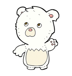 comic cartoon polar teddy bear vector image