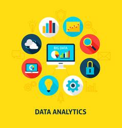 concept data analytics vector image