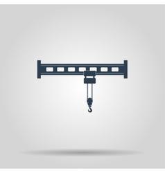 Crane icon Flat design style vector image