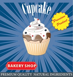 cupcake poster design vector image