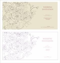 Decorative invitation vector