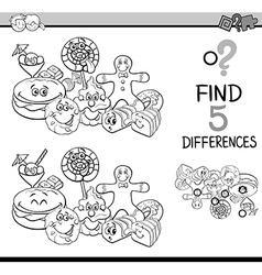 Differences game coloring book vector