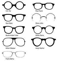 Eyeglasses designers vector