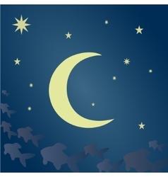 Fabulous lunar night vector
