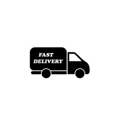 fast delivery icon black vector image