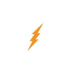 Faster lightning logo template icon design vector