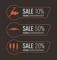 Fishing sale banner set vector