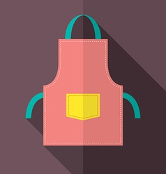 Flat design apron vector