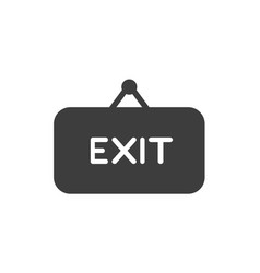 flat design concept of exit word on hanging sign vector image