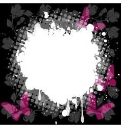 floral splash background vector image