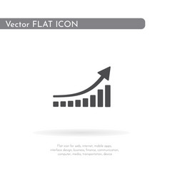 graph icon for web business finance and vector image