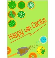 Graphics background cactus vector