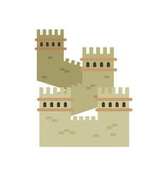 Great wall of china colored landmark icon in flat vector