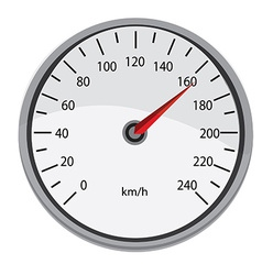 Grey speedometer vector image