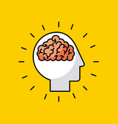 head brain illstration vector image