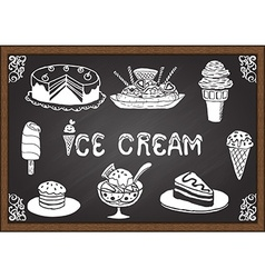 Ice cream and desserts vector