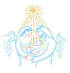Icon bible scene the nativity vector