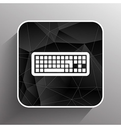 icon keyboard laptop input put key alphabet tool vector image