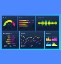 Infographic dashboard finance data analytic vector