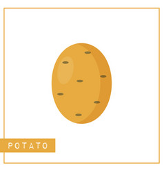 Isolated brown potato memory training card vector