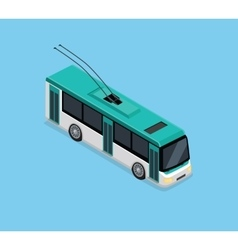 Isometric 3D Electric Trolleybus vector