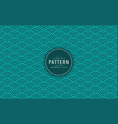 Japanese seamless wave pattern traditional vector