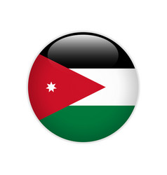Jordan flag on button vector
