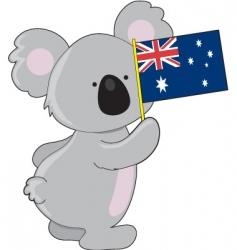 koala Australian flag vector image