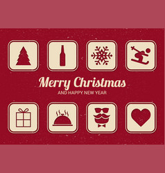 list for christmas fun christmas card flat design vector image vector image