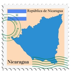 mail to-from Nicaragua vector image