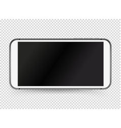 modern white smartphone with black blank screen vector image