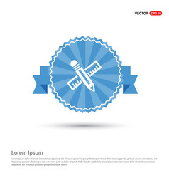 pencil scale icon vector image