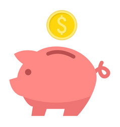 Piggy bank flat icon business and finance0 vector
