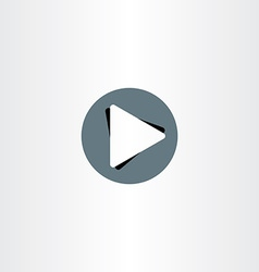 Play icon button design vector