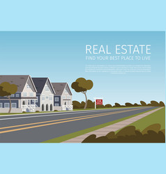 real estate find your best place to live vector image